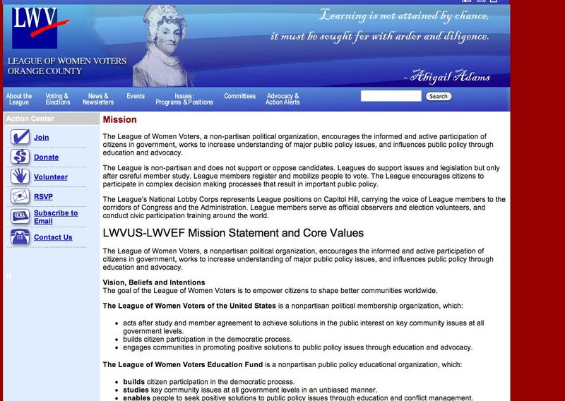 LWVOC website